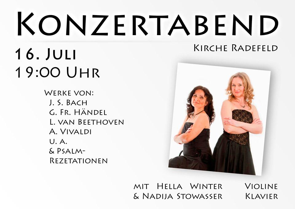 Konzertabend Violine Klavier
