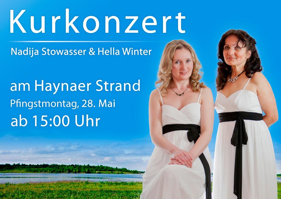 Kurkonzert Haynaer Strand Duo Bella Musik